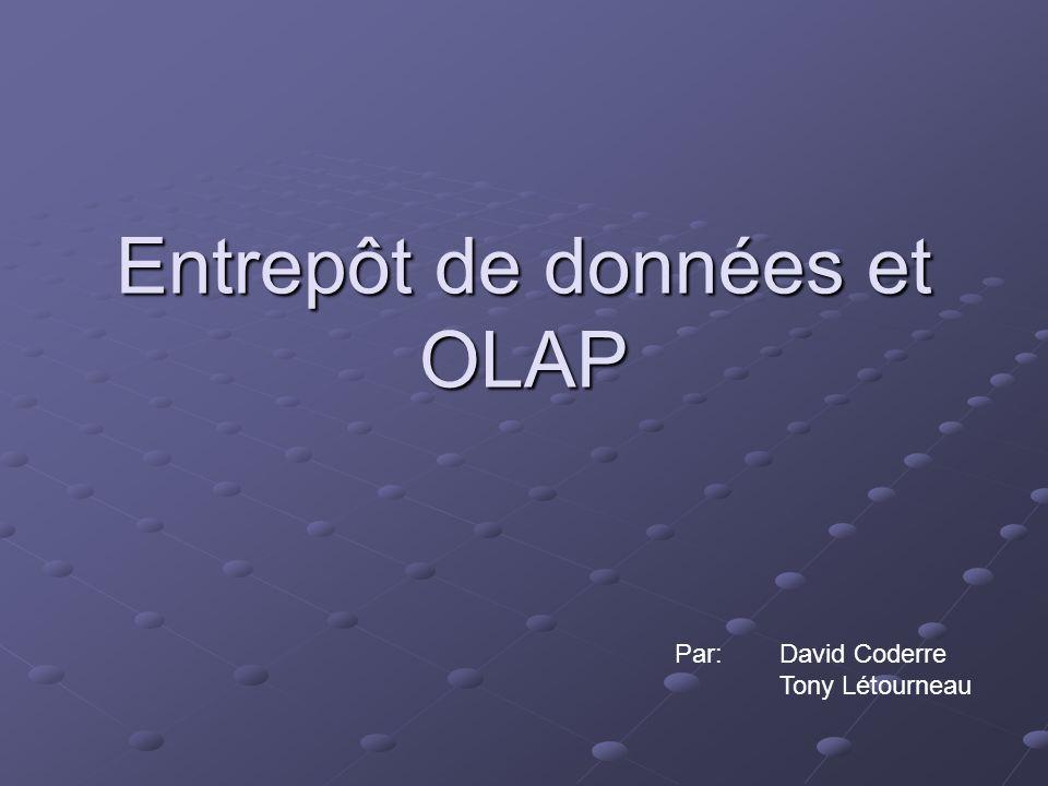 Entrepôt de données et OLAP Par:David Coderre Tony Létourneau
