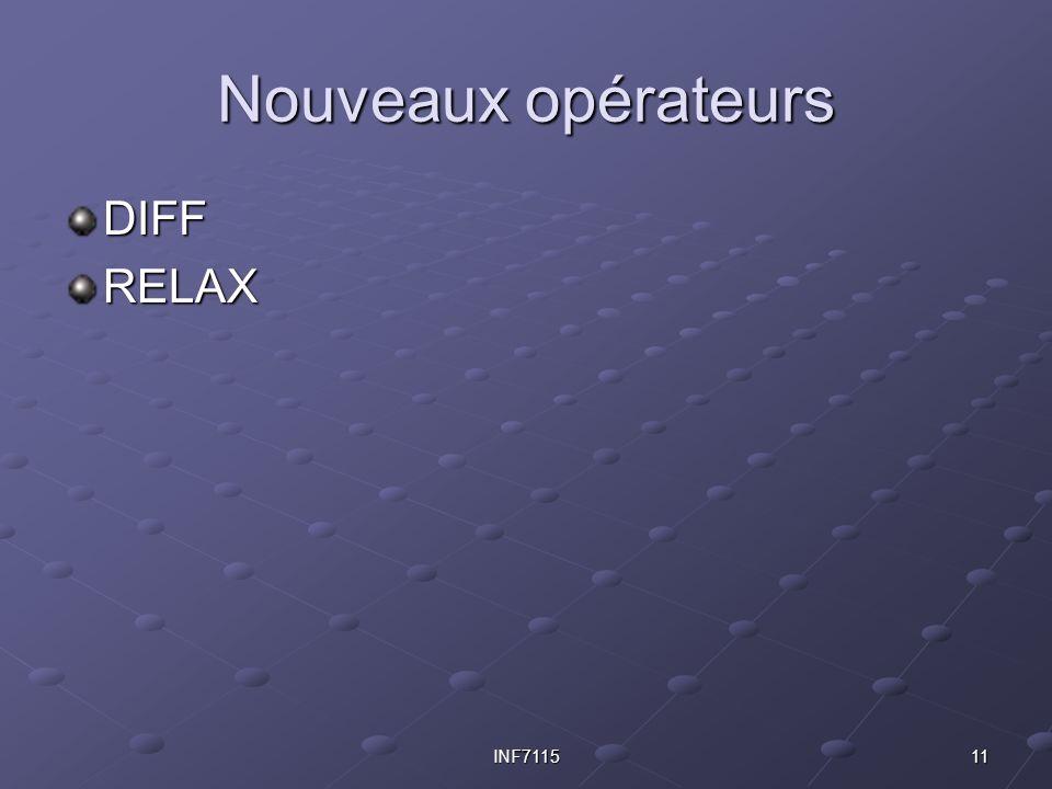 11INF7115 Nouveaux opérateurs DIFFRELAX