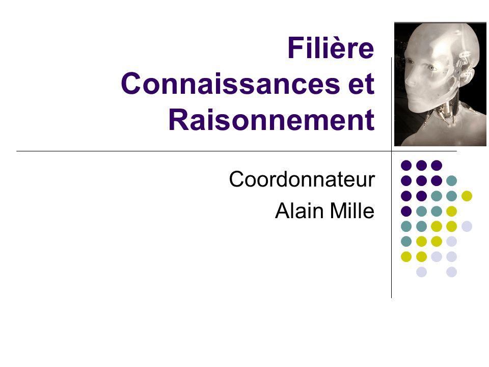 Filière Connaissances et Raisonnement Coordonnateur Alain Mille