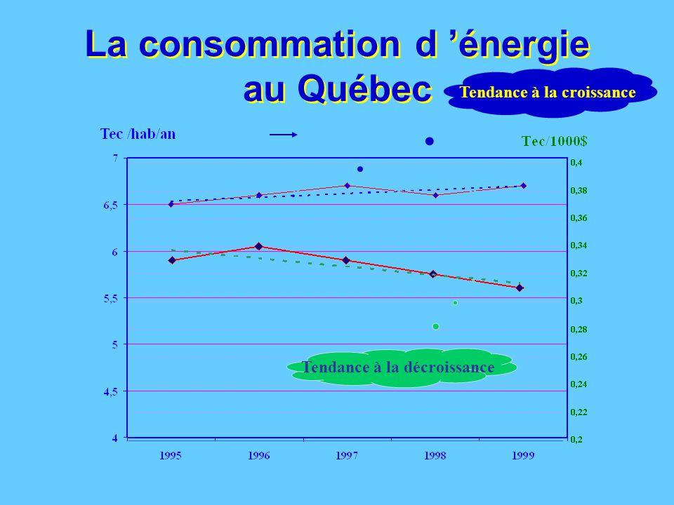 L'électricité au Québec (2001) 3,7% exportée capacité de 5,8% additionnelle