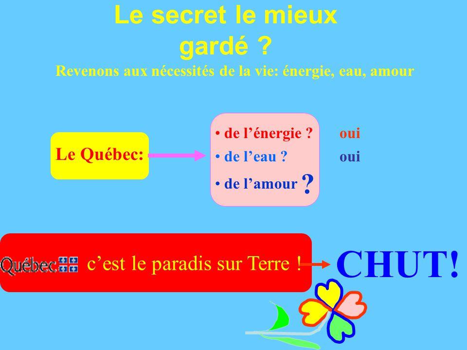 Le Québec: Le secret le mieux gardé . c'est le paradis sur Terre .