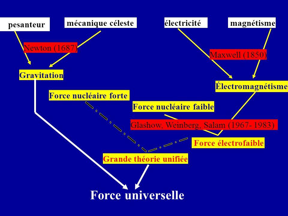 pesanteur Électromagnétisme Force électrofaible Gravitation Grande théorie unifiée - électricité magnétisme Force nucléaire forte mécanique céleste Fo