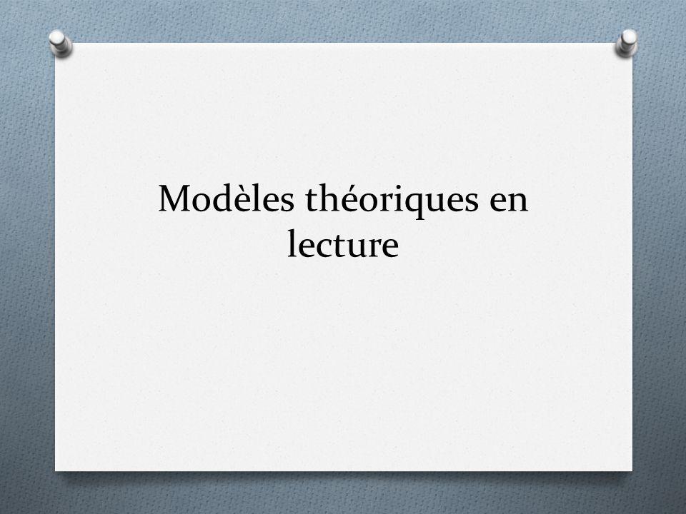 Modèles théoriques en lecture