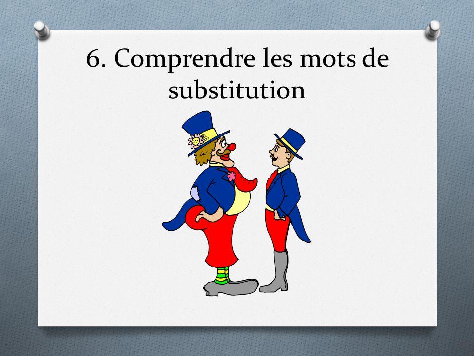 6. Comprendre les mots de substitution