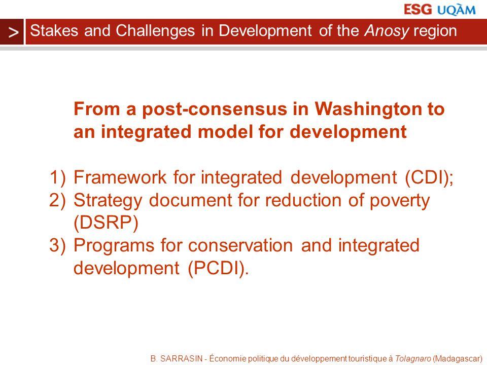 B. SARRASIN - Économie politique du développement touristique à Tolagnaro (Madagascar) From a post-consensus in Washington to an integrated model for