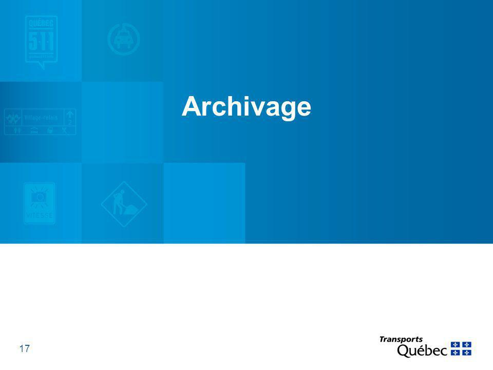 17 Archivage