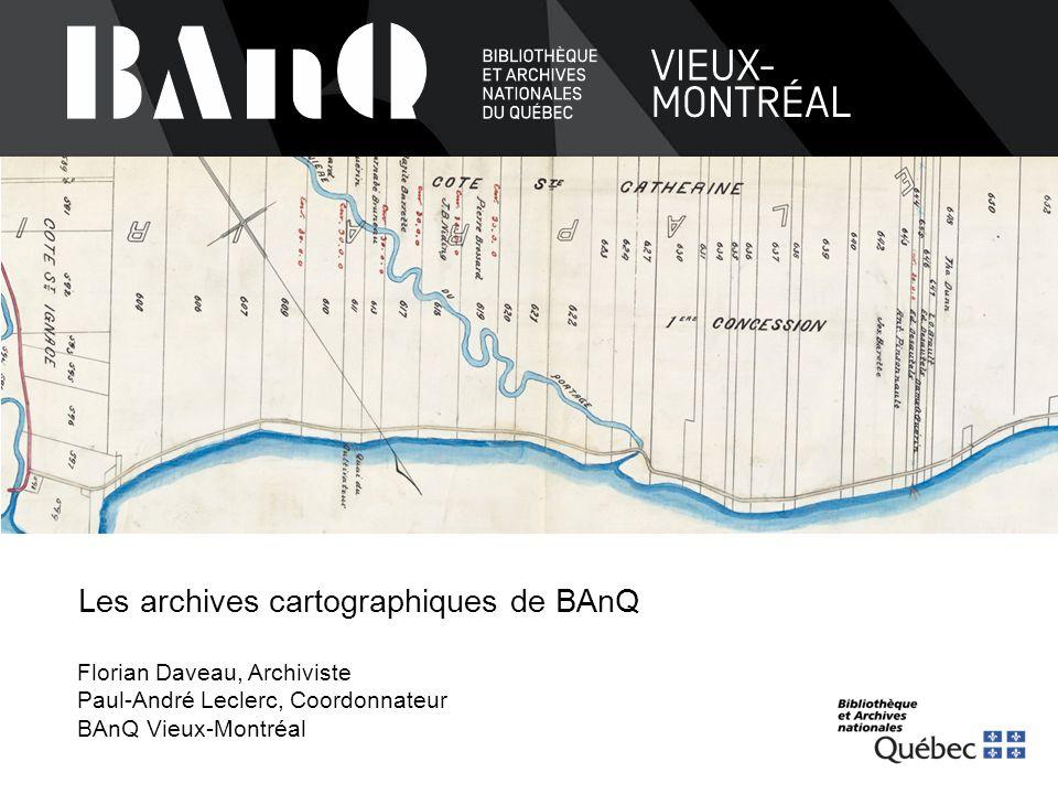 Carte des édifices de BAnQ  1.