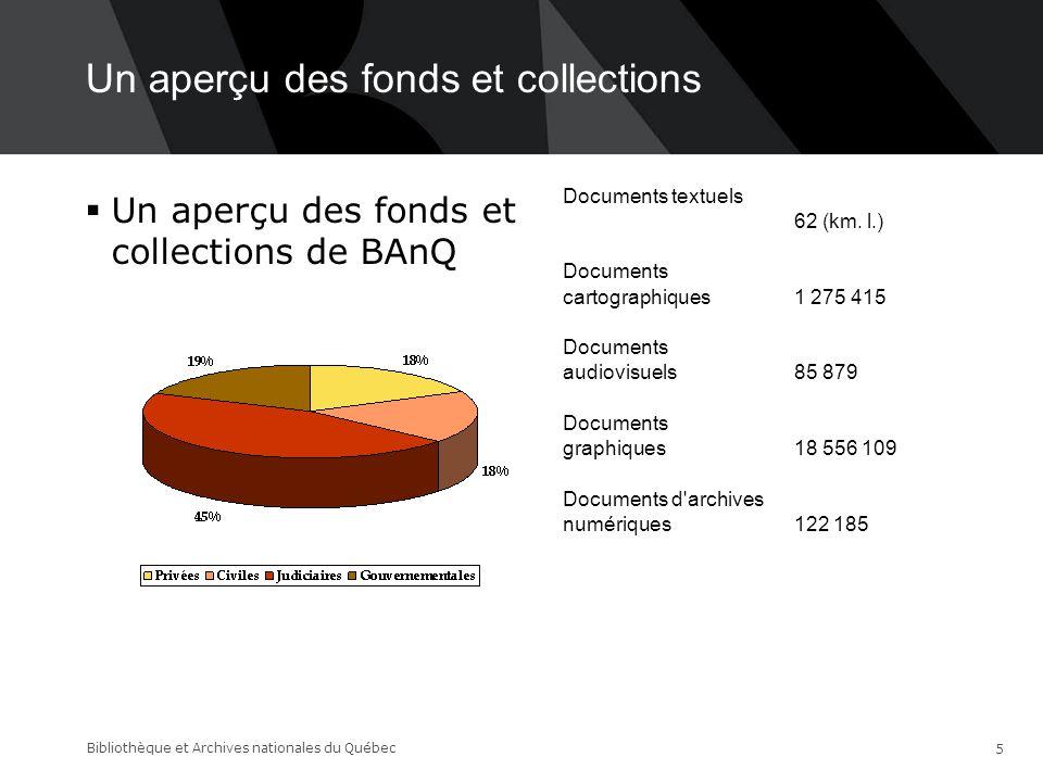 Choix des greffes  Choix de l'archiviste  Besoin de la diffusion  Opération place nette Bibliothèque et Archives nationales du Québec 16