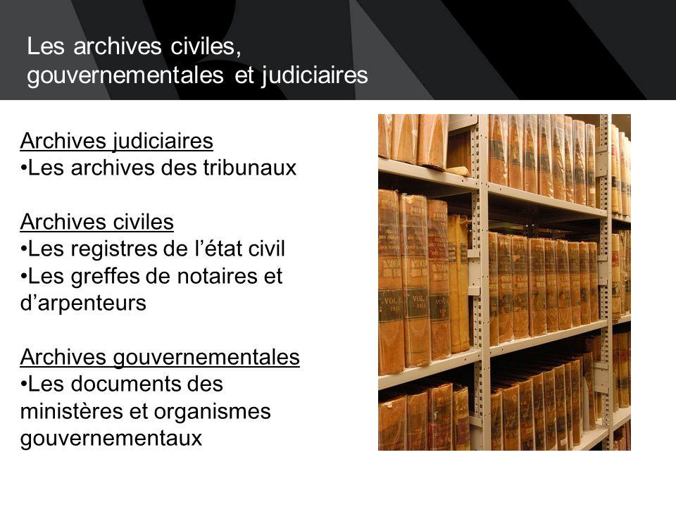 Les archives privées  De provenances diverses, elles apportent un éclairage significatif sur l'histoire du Québec.