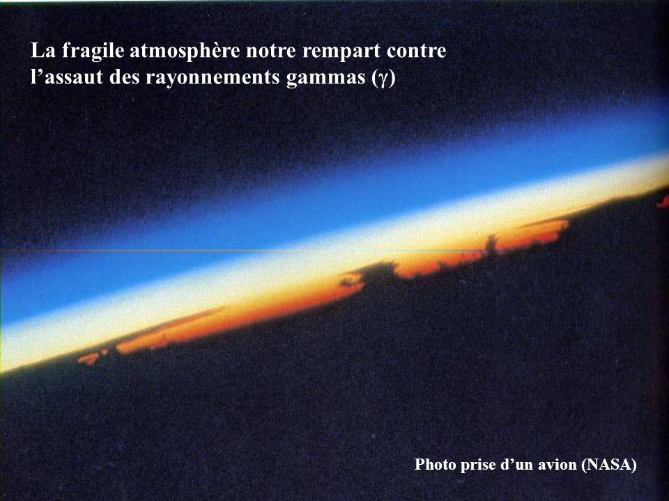 La fragile atmosphère notre rempart contre l'assaut des rayonnements gammas (  ) Photo prise d'un avion (NASA)