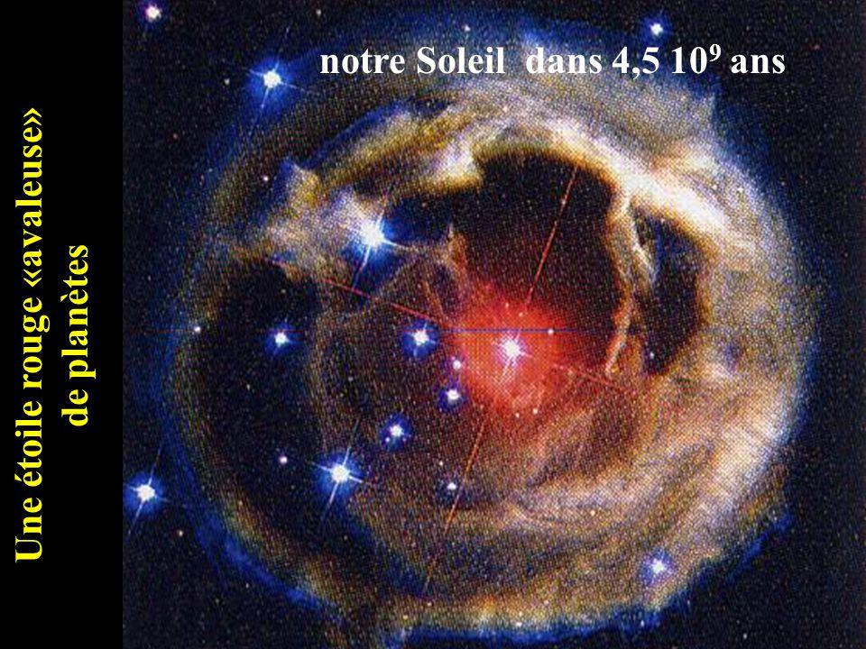 Une étoile rouge «avaleuse» de planètes notre Soleil dans 4,5 10 9 ans