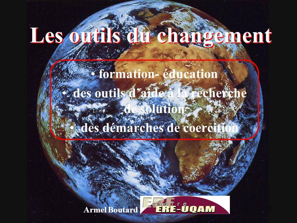 1 Les outils du changement formation- éducation des outils d'aide à la recherche de solution des démarches de coercition Armel Boutard