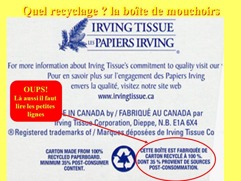 Boutard Armel11 Quel recyclage . la boîte de mouchoirs OUPS.
