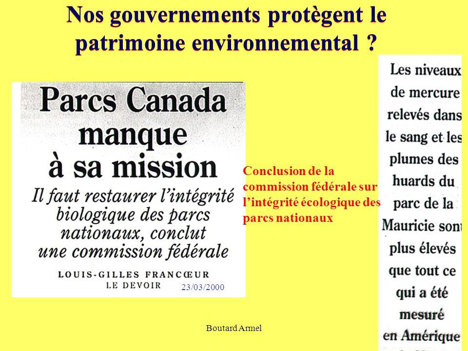 Boutard Armel12 Nos gouvernements protègent le patrimoine environnemental .