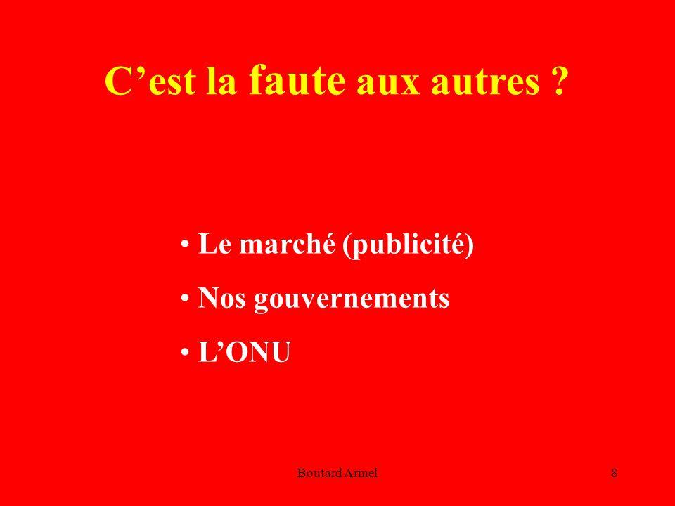 Boutard Armel8 Le marché (publicité) Nos gouvernements L'ONU C'est la faute aux autres