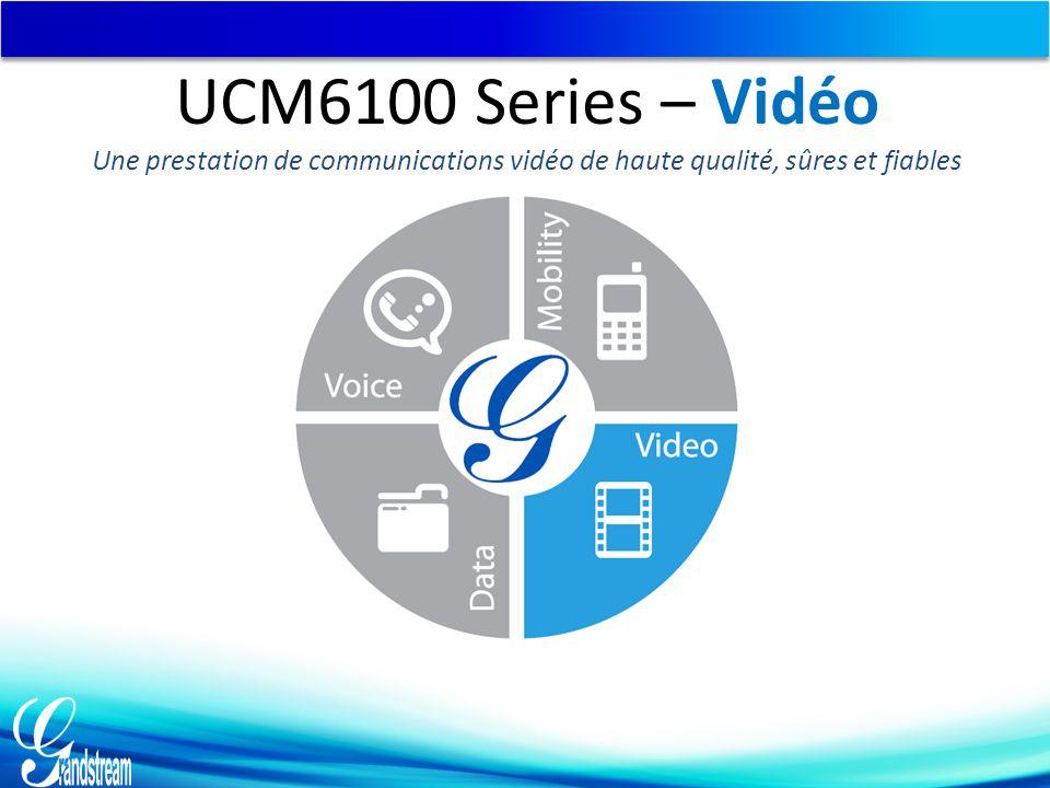 UCM6100 Series – Vidéo Une prestation de communications vidéo de haute qualité, sûres et fiables