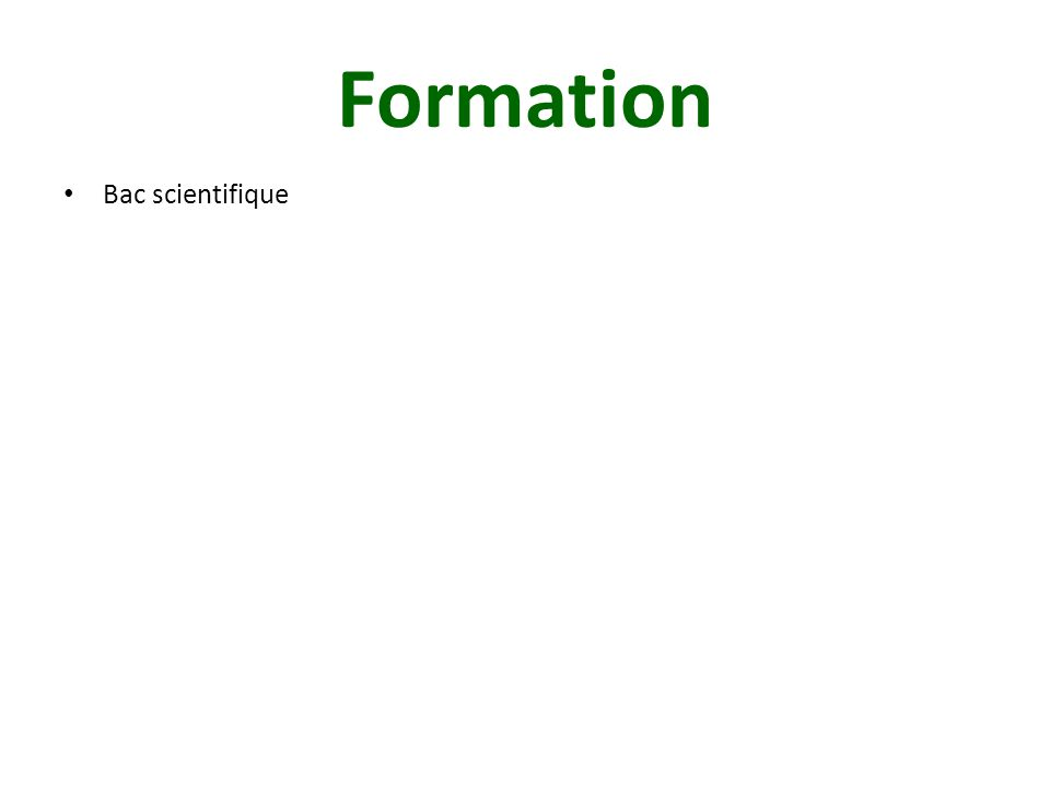 Formation Bac scientifique Faculté de pharmacie