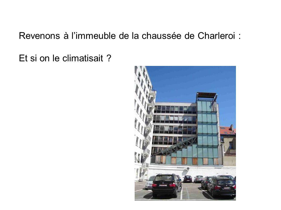 Revenons à l'immeuble de la chaussée de Charleroi : Et si on le climatisait ?