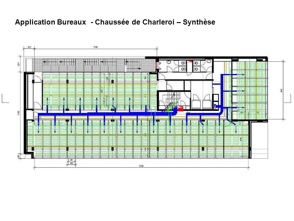 Application Bureaux - Chaussée de Charleroi – Synthèse