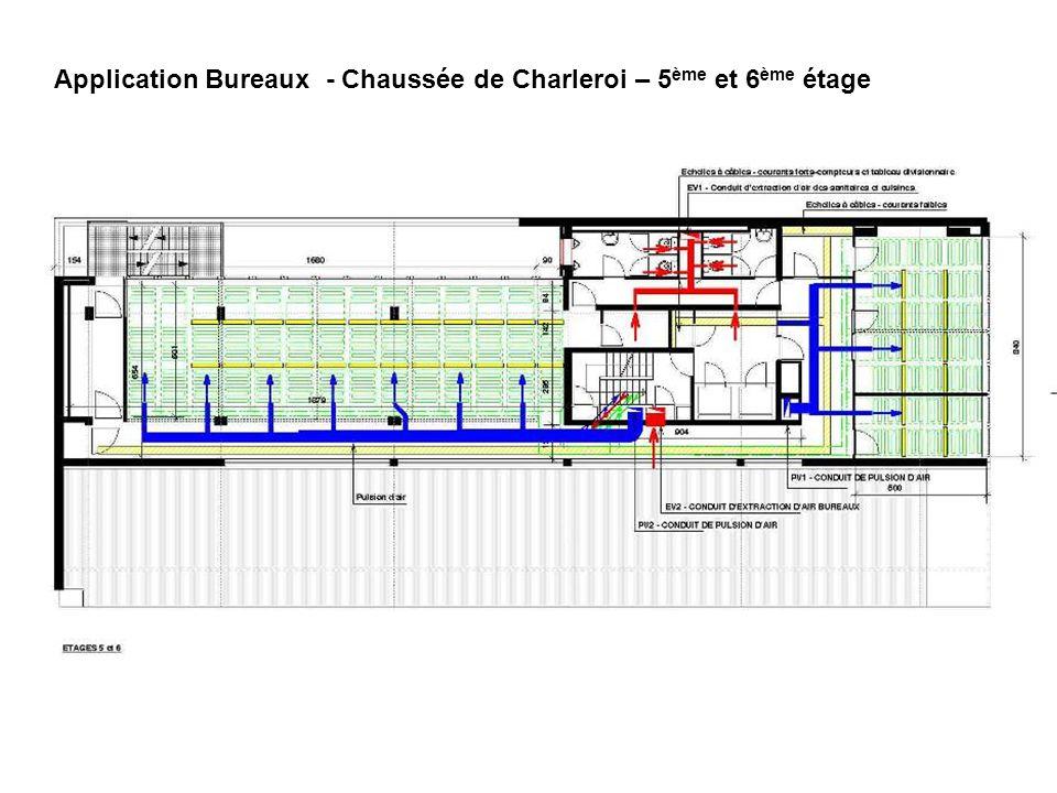 Application Bureaux - Chaussée de Charleroi – 5 ème et 6 ème étage