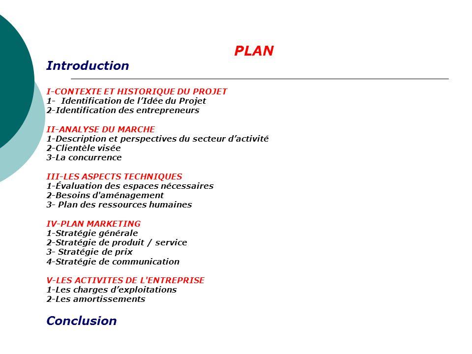 Description des documents de présentation