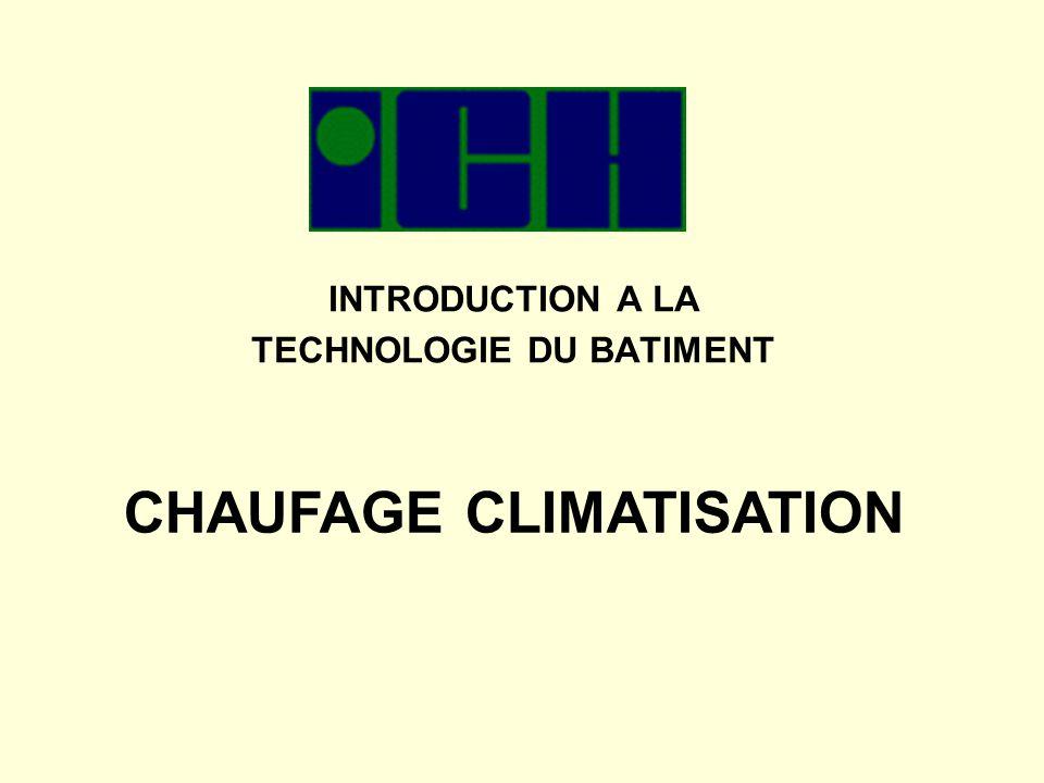 2 INTRODUCTION A LA TECHNOLOGIE DU BATIMENT I.Le Chauffage II.La climatisation III.Les autres procédés IV.Divers