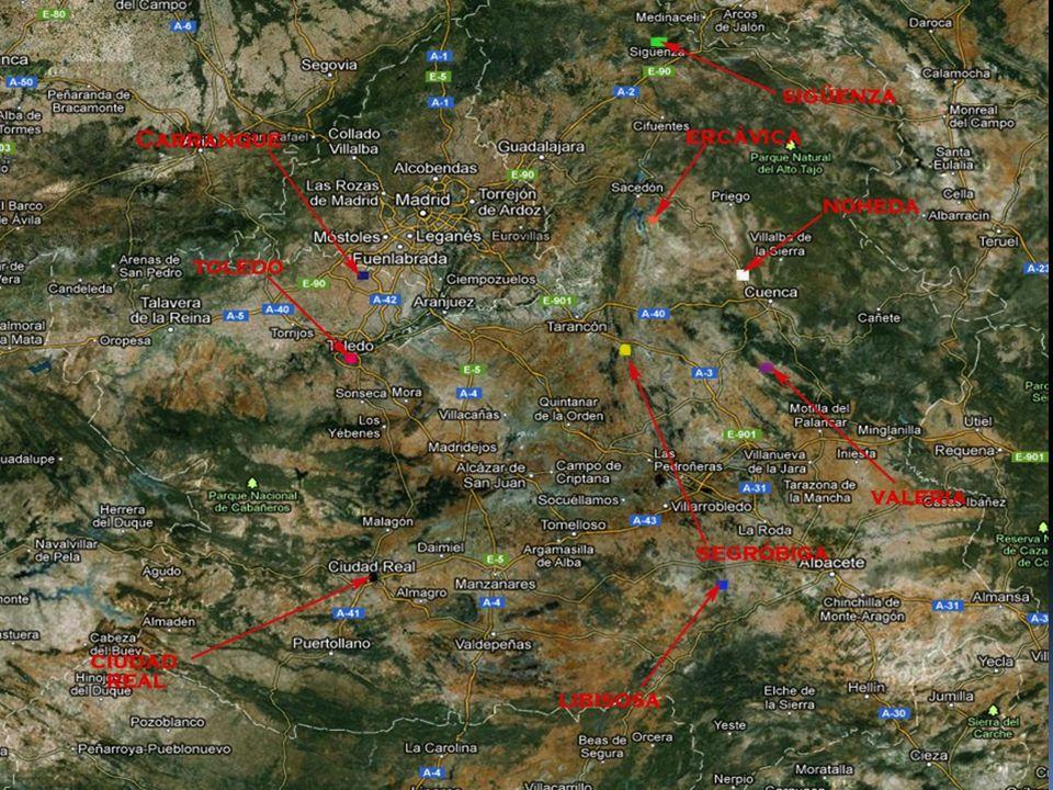 PARCS ARCHÉOLOGIQUES Les Parcs Archéologiques les plus importants de l´époque romaine à Castilla-La Mancha sont: la ville romaine de Segóbriga (Cuenca); la ville de Carranque (Toledo) et la ville romaine de Noheda (Cuenca).