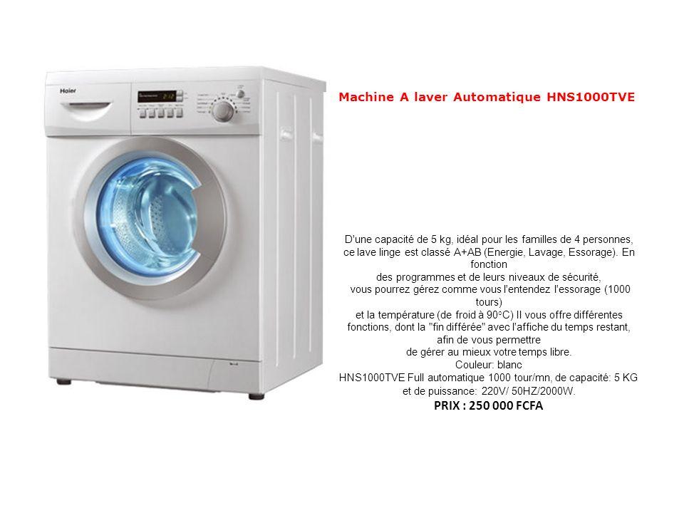 Machine A laver Automatique HNS1000TVE D'une capacité de 5 kg, idéal pour les familles de 4 personnes, ce lave linge est classé A+AB (Energie, Lavage,