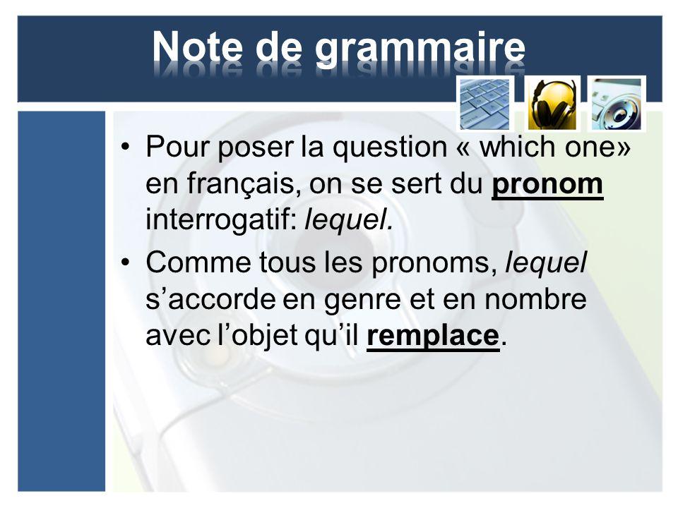Pour indiquer une chose ou objet spécifique, on pourrait utiliser le pronom démonstratif.