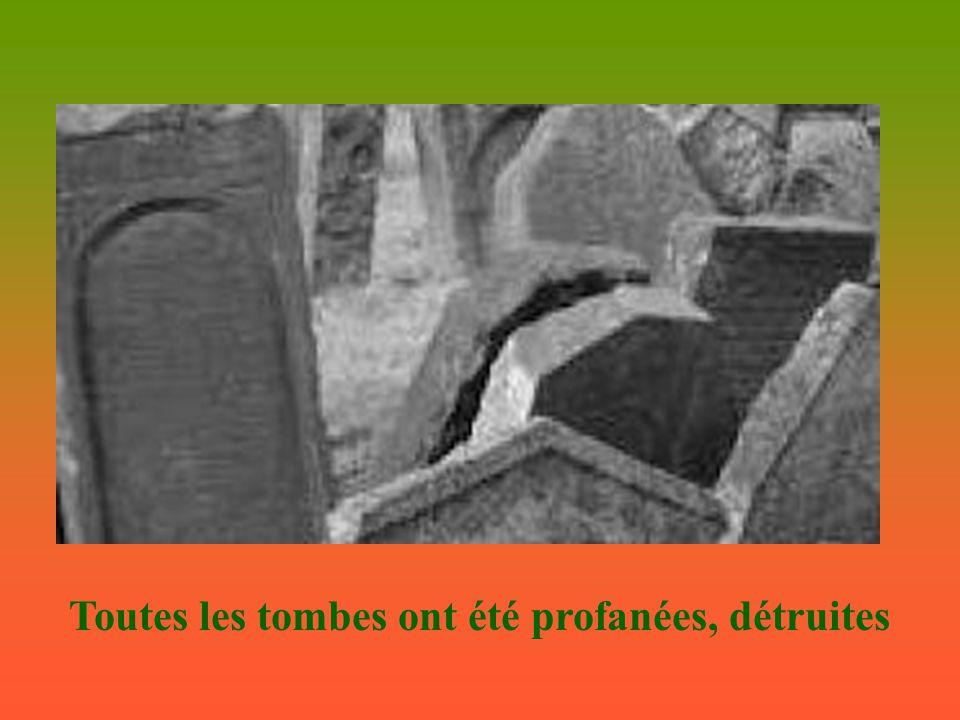 Toutes les tombes ont été profanées, détruites