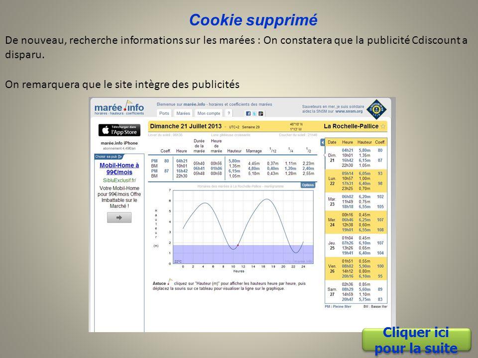 Nettoyage avec Ccleaner J'utilise Ccleaner pour supprimer les cookies ( Spyware terminator supprime aussi les cookies traceurs) Cliquer ici pour la suite Cliquer ici pour la suite