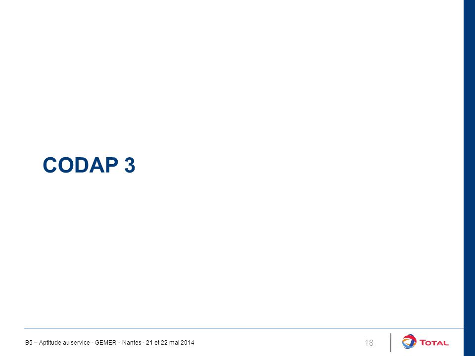 CODAP 3 18 B5 – Aptitude au service - GEMER - Nantes - 21 et 22 mai 2014