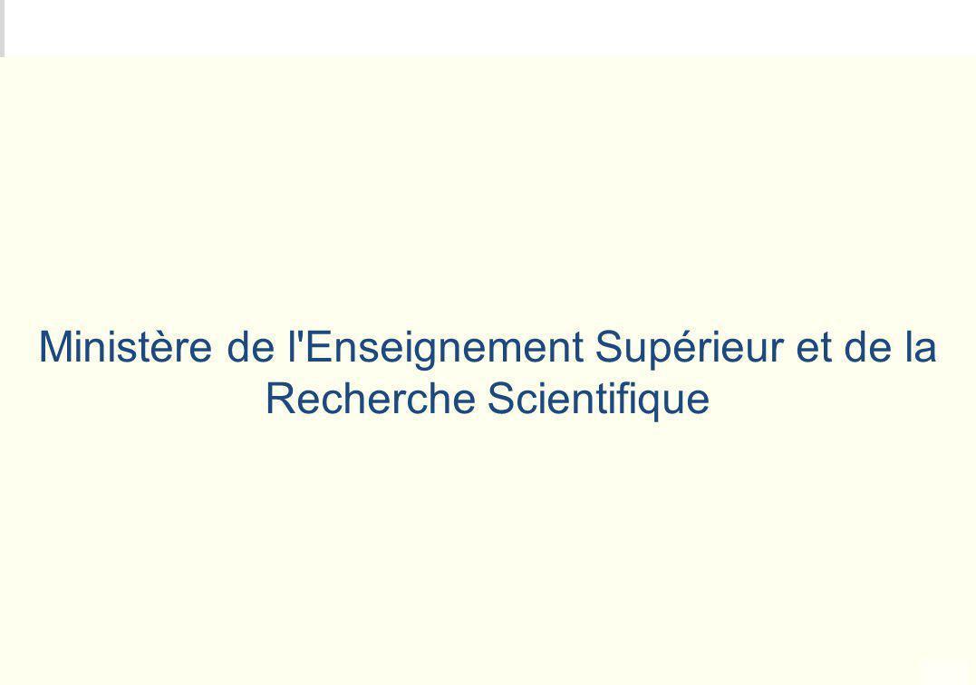METEO DES PROGRAMMES Ministère de l'Enseignement Supérieur et de la Recherche Scientifique