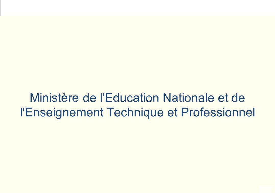 METEO DES PROGRAMMES Ministère de l'Education Nationale et de l'Enseignement Technique et Professionnel