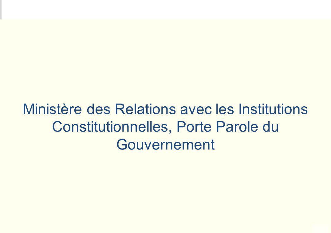 METEO DES PROGRAMMES Ministère des Relations avec les Institutions Constitutionnelles, Porte Parole du Gouvernement