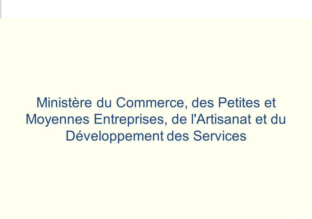 METEO DES PROGRAMMES Ministère du Commerce, des Petites et Moyennes Entreprises, de l'Artisanat et du Développement des Services