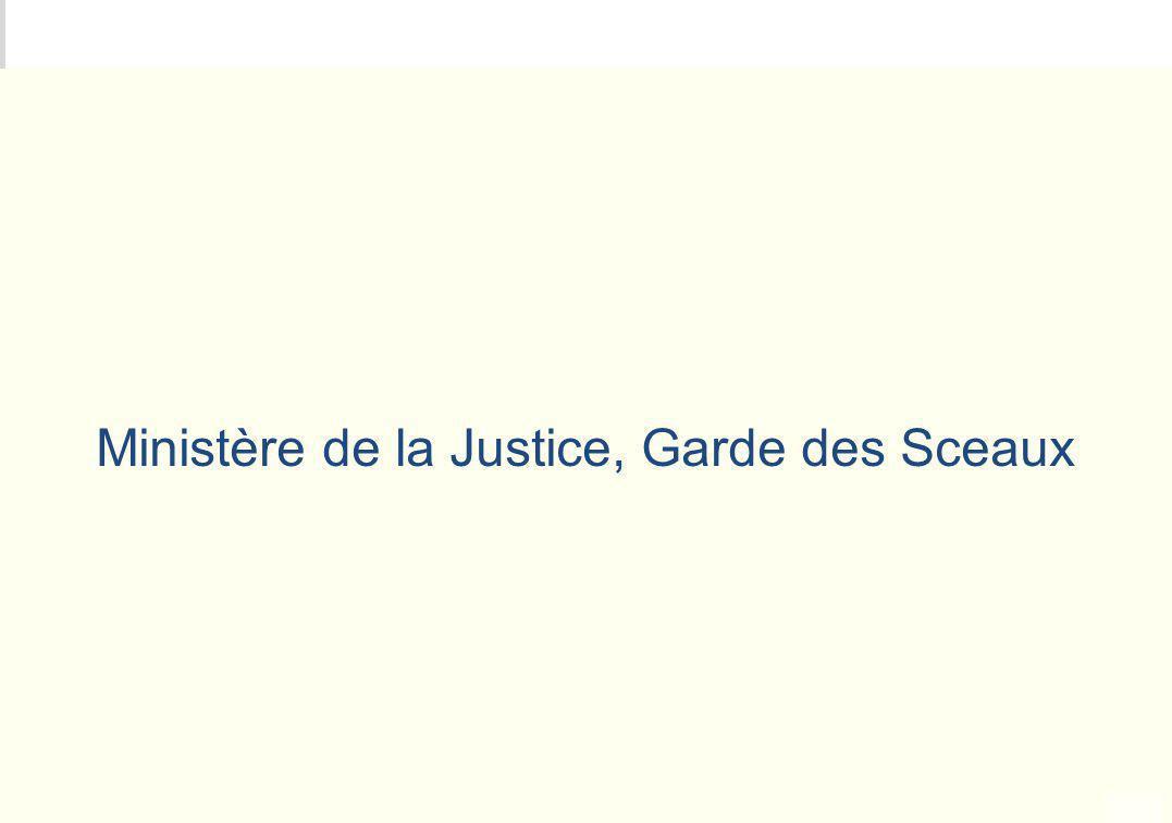 METEO DES PROGRAMMES Ministère de la Justice, Garde des Sceaux