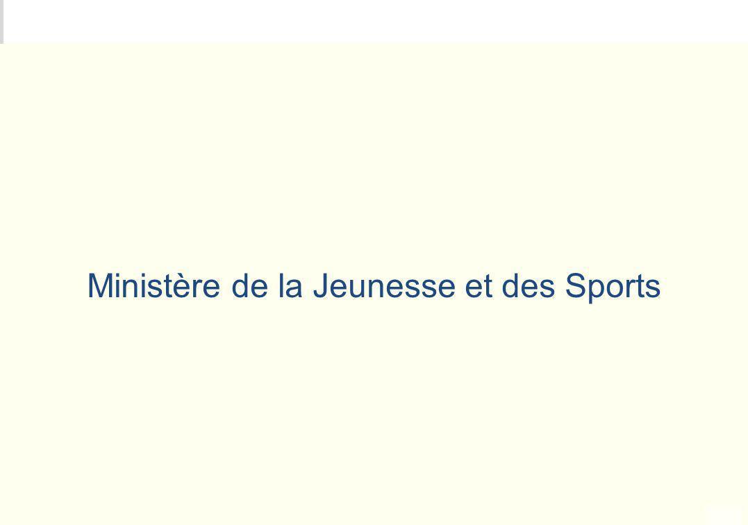 METEO DES PROGRAMMES Ministère de la Jeunesse et des Sports