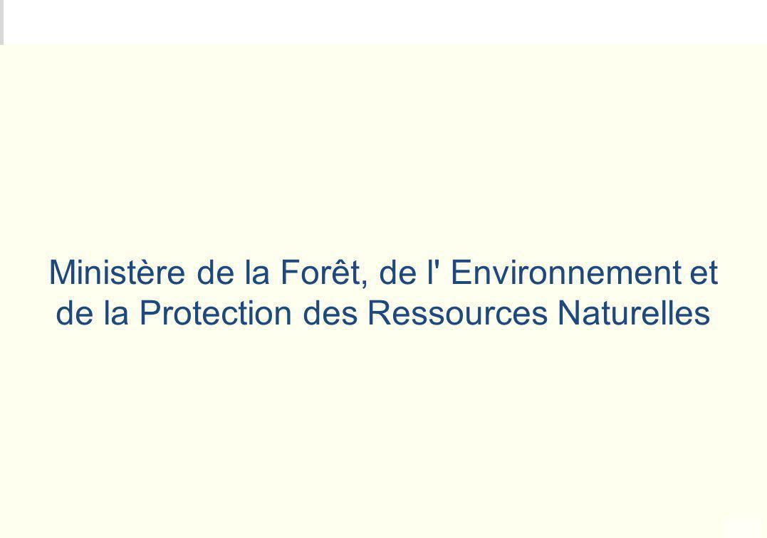 METEO DES PROGRAMMES Ministère de la Forêt, de l' Environnement et de la Protection des Ressources Naturelles
