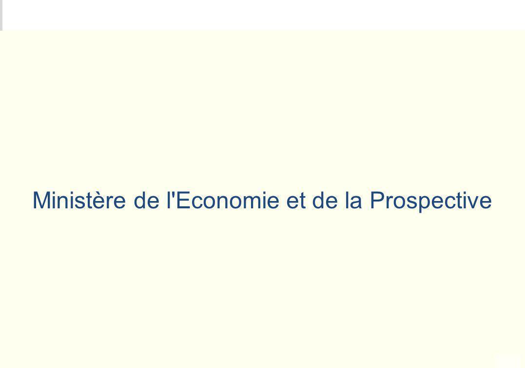 METEO DES PROGRAMMES Ministère de l'Economie et de la Prospective
