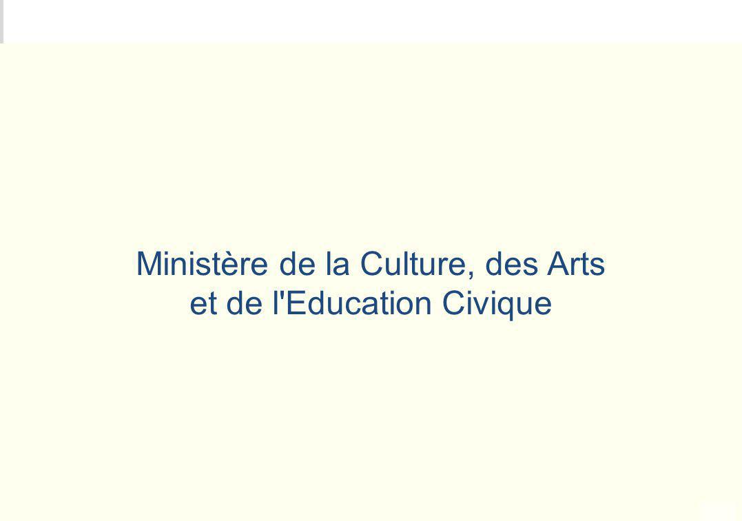 METEO DES PROGRAMMES Ministère de la Culture, des Arts et de l'Education Civique