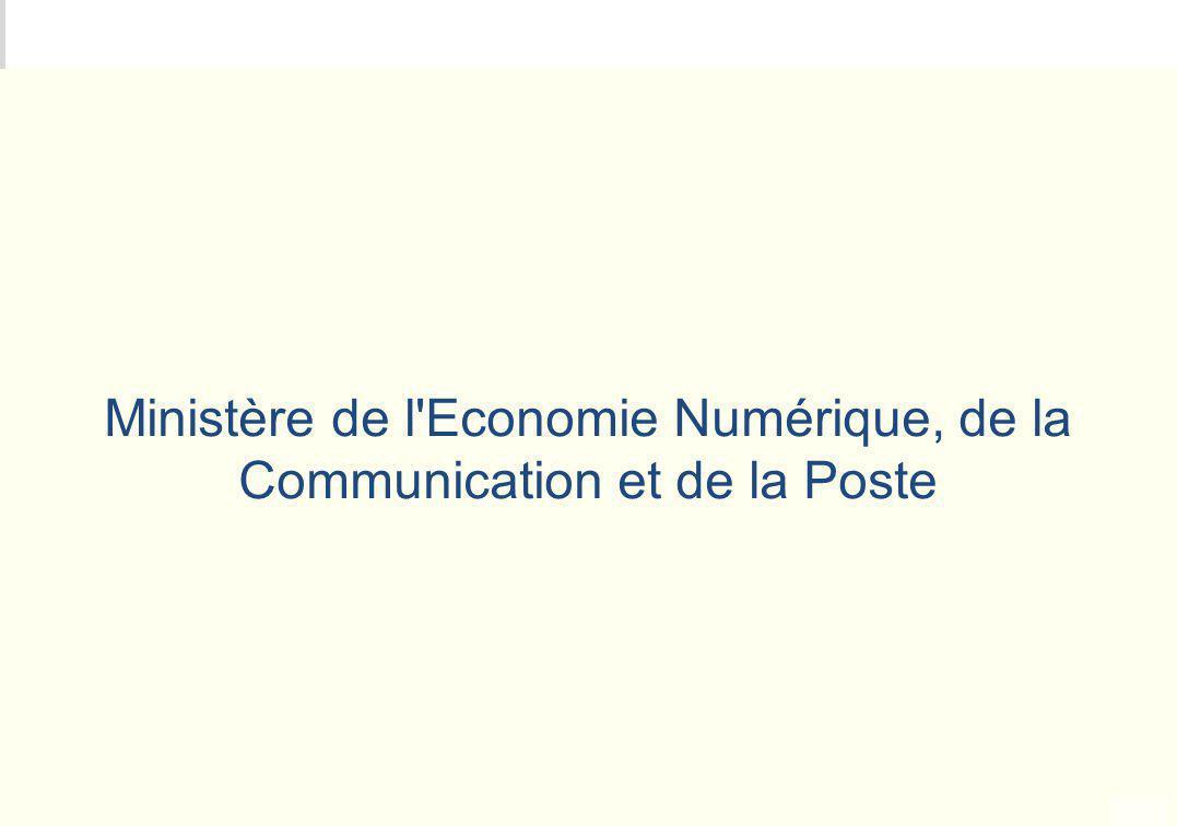 METEO DES PROGRAMMES Ministère de l'Economie Numérique, de la Communication et de la Poste