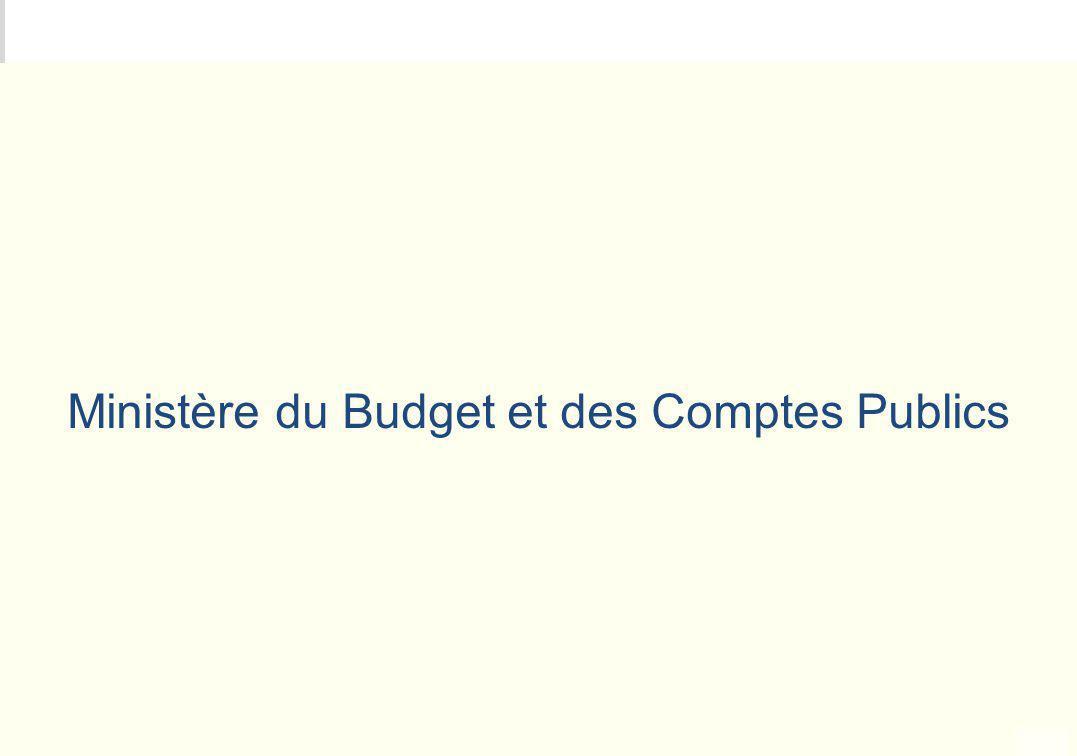 METEO DES PROGRAMMES Ministère du Budget et des Comptes Publics