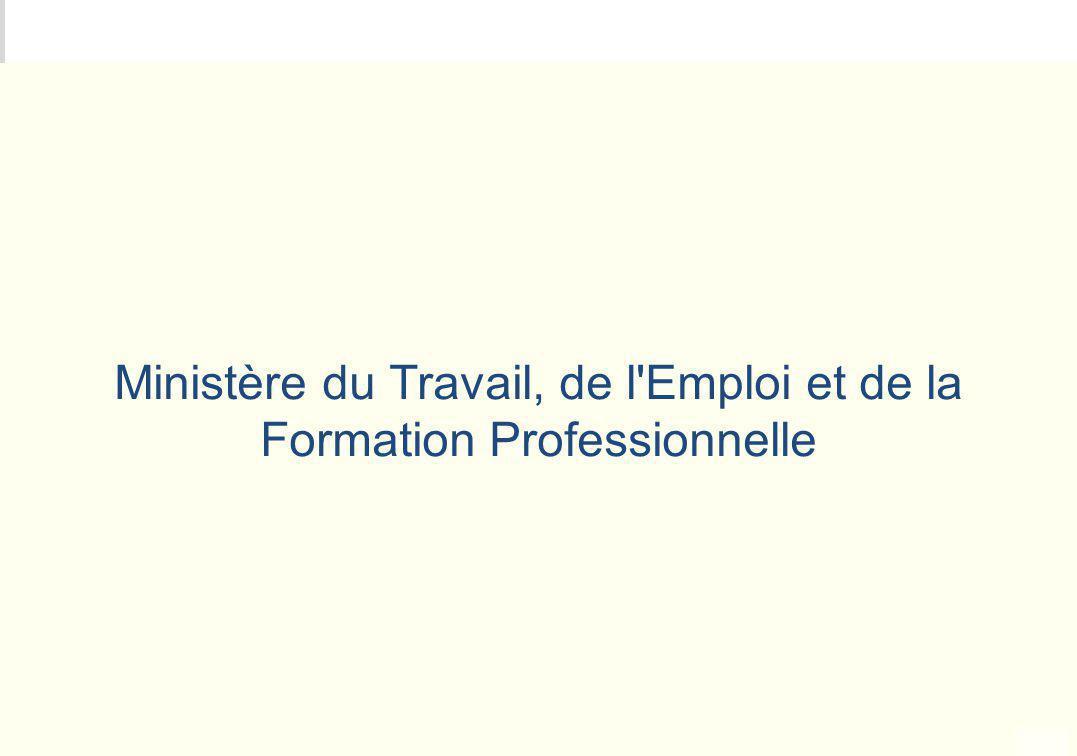 METEO DES PROGRAMMES Ministère du Travail, de l'Emploi et de la Formation Professionnelle