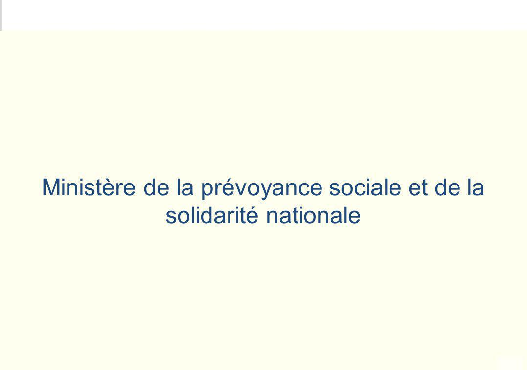 METEO DES PROGRAMMES Ministère de la prévoyance sociale et de la solidarité nationale