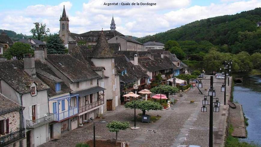 Argentat : Quais de la Dordogne