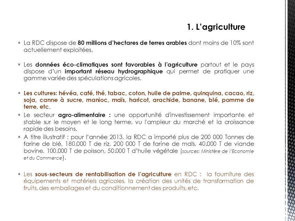 Note :  La modification de la loi n°11/022 du 24 décembre 2011 portant principes fondamentaux relatifs à l'agriculture (code agricole) est attendue dans les prochains mois.