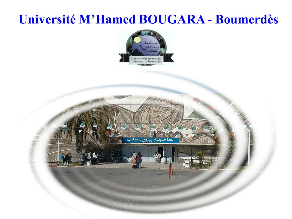 Université M'Hamed BOUGARA - Boumerdès