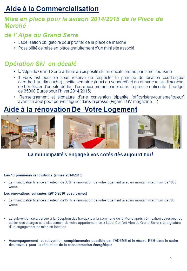 Aide à la Commercialisation Mise en place pour la saison 2014/2015 de la Place de Marché de l' Alpe du Grand Serre Labélisation obligatoire pour profi