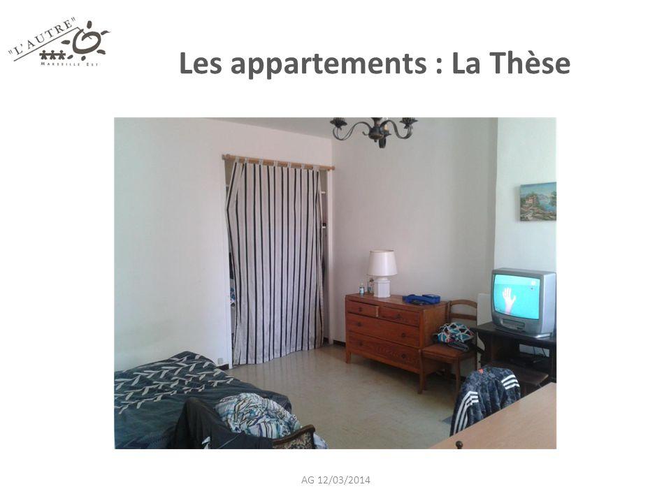 Les appartements : La Thèse AG 12/03/2014
